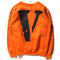 Men Vlone Off White Hoodie Hip Hop Sweatshirt Women Harajuku  Off White Hoodie Skateboard Pullover Trasher Fleece Tracksuit