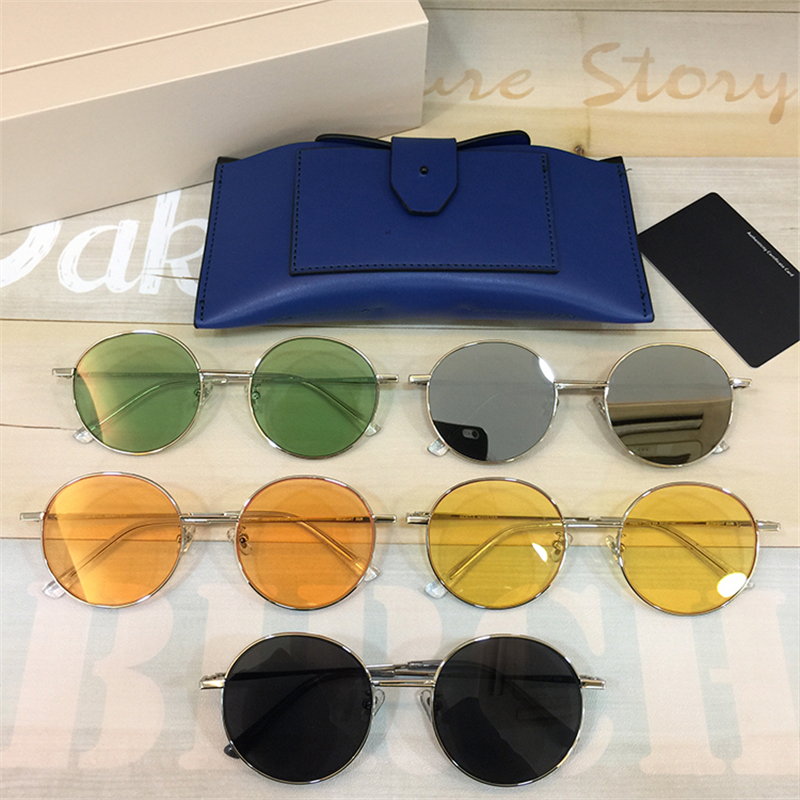 2018 Korea Women Retro Round Sunglasses Shades Gentle Brand Designer MIDNIGHT Sun Glasses Candy Color Metal Sunglasses Female