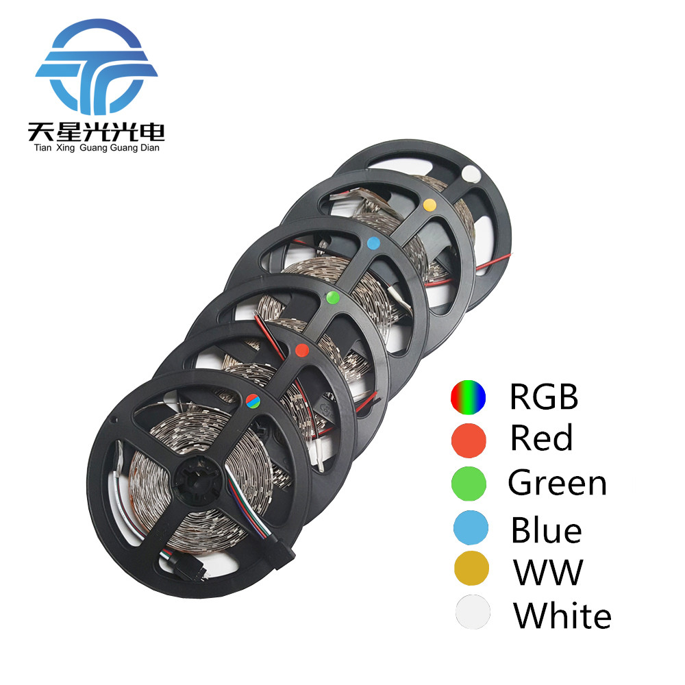 2 PCS 5 m 60 led/m Super lumineux SMD2835 led light strip led 12 V plus lumineux que 3528 3014 Prix Inférieur que 5050 promotionnel