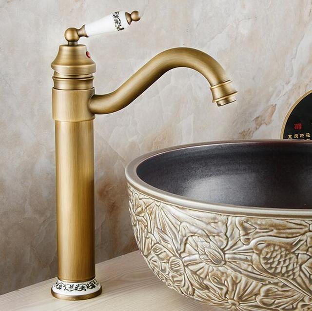 Antique Ceramics Bathroom Faucet Torneira Banheiro Basin Vintage Sink Ceramic Water Tap
