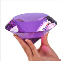 Huge Color Crystal Glass Diamond Paperweight Quartz Crafts Home Wedding Party Decor Ornaments Figurines Miniature Souvenir Gifts