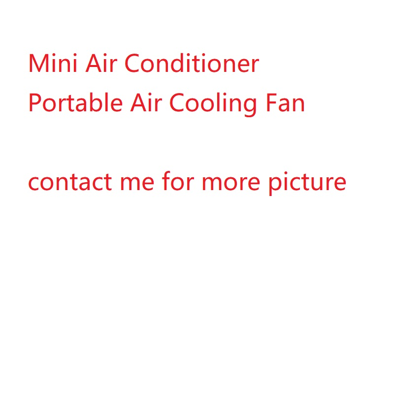 Mini Air Conditioner Air Cooling Fan Portable USB Air Cooler Fans with LED Lights Humidifier Purifier for Home Office new portable outdoor mini fans with led lamp light table usb fan spray water humidifier personal air cooler conditioner for home