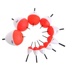 10Pcs/Set Polystyrene Fishing Floats with Sticks Professional Fish Float Outdoor Sea Fishing Accessory