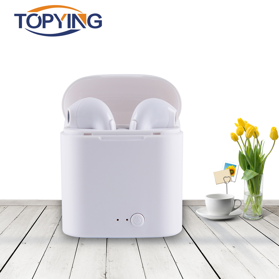 TOPYING Noise Canceling Wireless Earphone For Music Sport With Mini Bluetooth 4.2 For Samsung Iphone Bluetooth Earphone With Mic dbigness sport running bluetooth earhook headphone mini wireless earphone stereo noise canceling auricular for xiaomi iphone