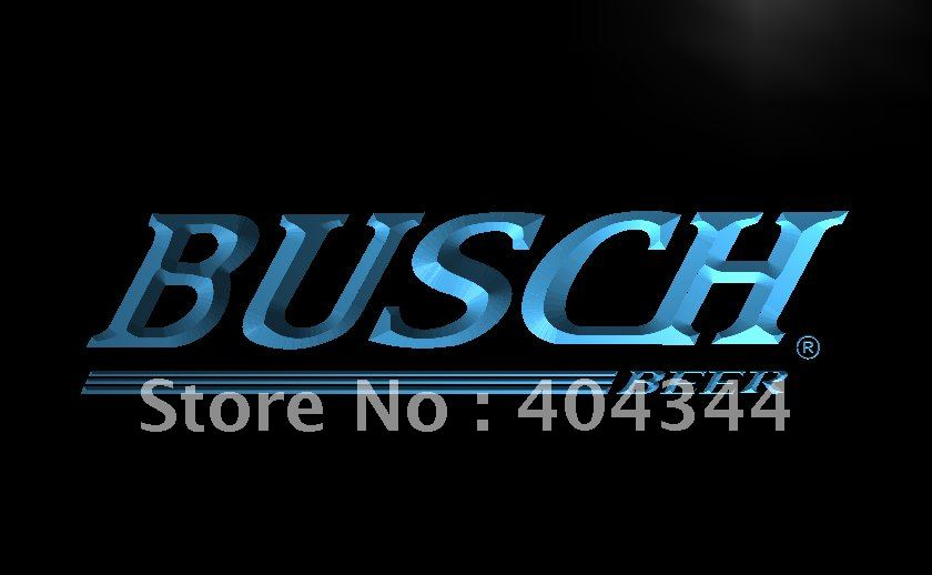 LE090 Busch Beer Bar Pub Gift Display LED Neon Light Sign