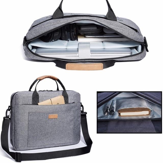 KALIDI Laptop Bag 15.6 17.3 Inch Waterproof Notebook Bag Mackbook Air Pro Sleeve Laptop Shoulder Handbag 17 inch Computer Bag 15 3