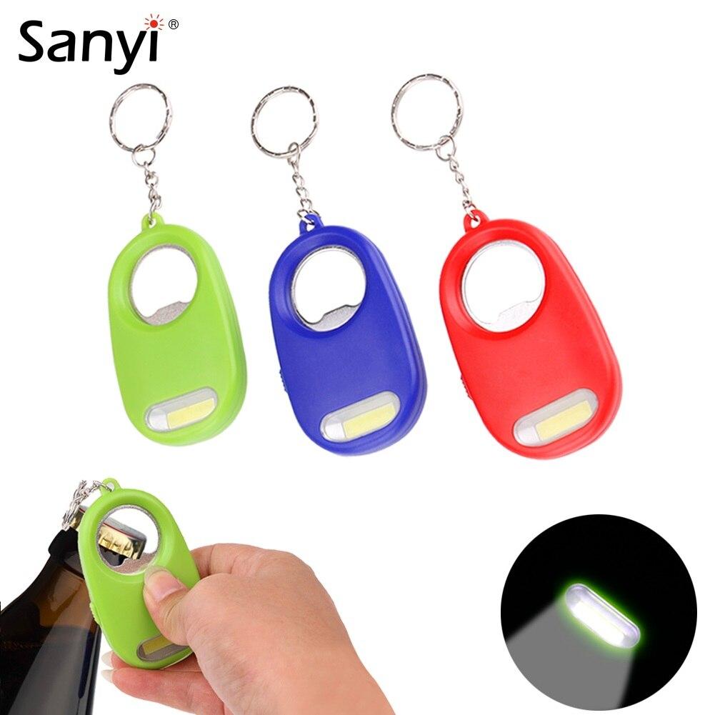 Portable LED Flashlight Carabiner Lamp Keychain Light Emergency Lamp