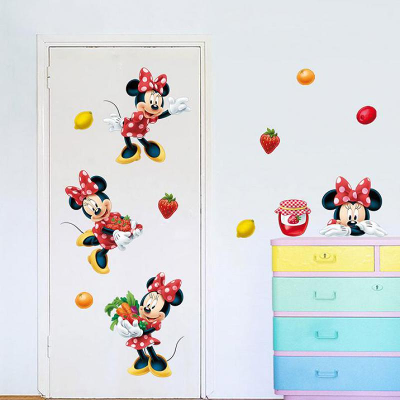 More Designs Mickey Mouse Clubhouse Minnie Wall Stickers Removable Books on Art Wall Stickers Baby Childrens Room