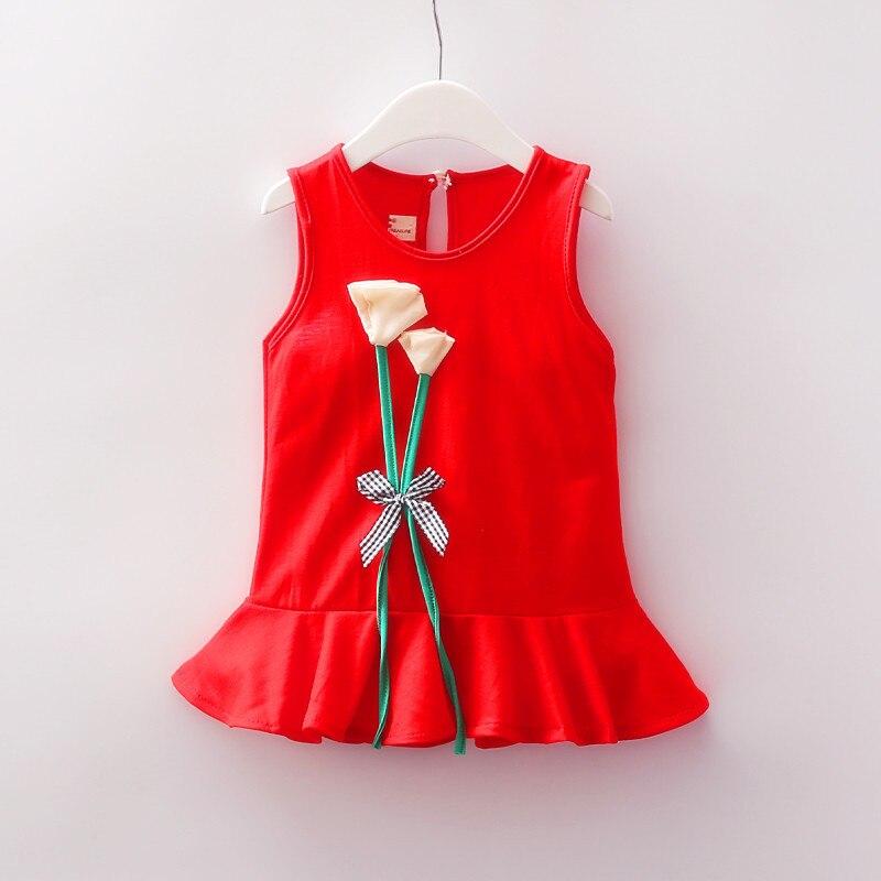 Girl Dress 2018 New Baby Dresses Pattern Print Lemon Cartoon Birthday Dress Female Baby Summer Clothes Kids Girl Clothes B0136