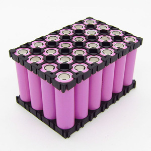Image 4 - 1 blatt 4*6 18650 Lithium Batterie Kombination Halter Schnalle Batterie Pack Halter Zylindrischen Li ionen zelle Leuchte Halterung BMS teil