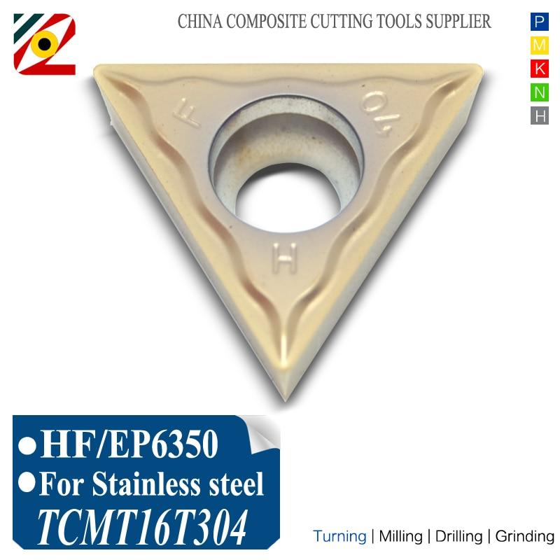 EDGEV CNC-hardmetalen wisselplaten TCMT16T304 TCMT16T308 TCMT3251Boren van interne draaigereedschappen Wolfraamblad verspanen van roestvrij staal
