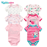 3PCS 2017 Newborn Baby Rompers Boy Clothes Cotton Striped Cute Yellow 0 12M O Neck Infant