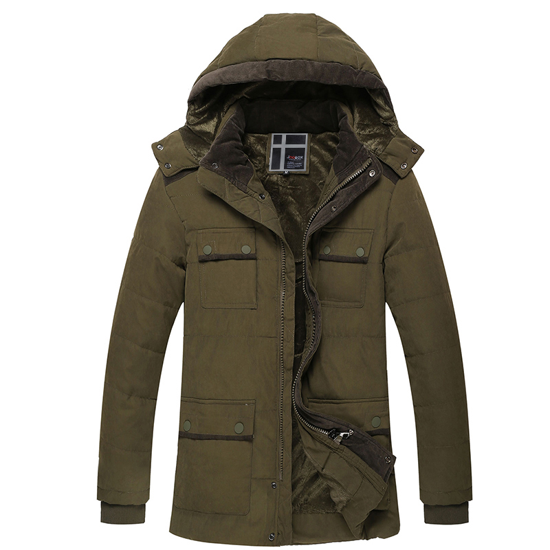 Fashion Patchwork Long Wadded Coat Mens Solid Cotton-padded Jacket Winter Casual Outwear Detachable Hat Hooded Jacket Parka 3XL цены онлайн