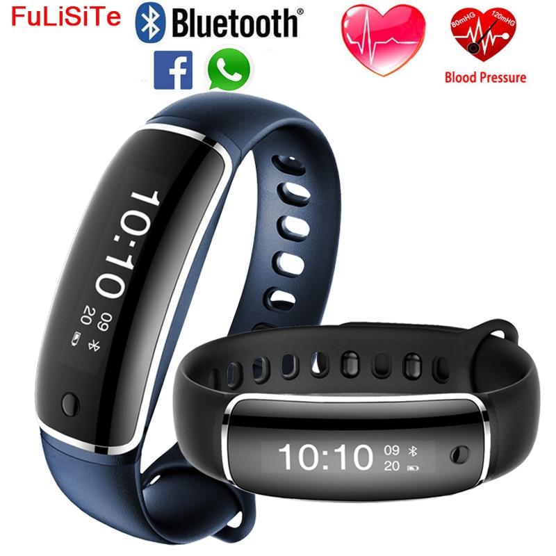 M4 Blood Pressure Bracelet Fitness Watch Heart Rate Sensor Activity Tracker Bluetooth 4 0 Waterproof Call