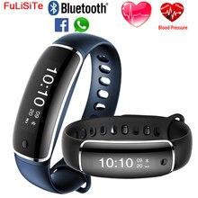 M4 Приборы для измерения артериального давления браслет Фитнес Часы Heart Rate Сенсор трекер Bluetooth 4.0 Водонепроницаемый вызова sms-оповещение Smart Band