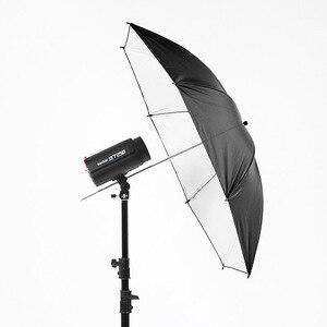 Image 4 - 43 インチ/110 センチの写真撮影プロスタジオフラッシュリフレクターブラックシルバー反射傘プロのスタジオ撮影に便利です