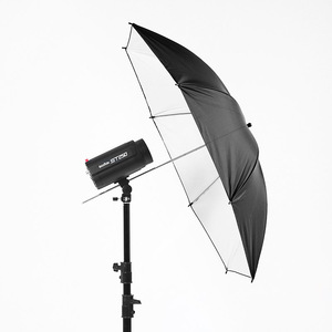Image 4 - 43 inch/110 cm Fotografia Pro Studio Flash Riflettore Nero Argento Riflettente Ombrello È utile in professionale studio di ripresa