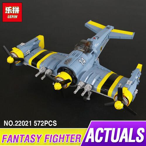 Lepin 22021 572Pcs Technical Series The Beautiful Science Fiction Fighting Aircraft Set Building Blocks Bricks Toys Model Gift the ec archives incredible science fiction