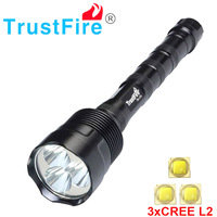 Trustfire 3L2 3800 lumens flashlight 3X * XM L2 5Mode LED Flashlight Torch Lamp can use 2x 18650 / 3x 18650 torch lamp