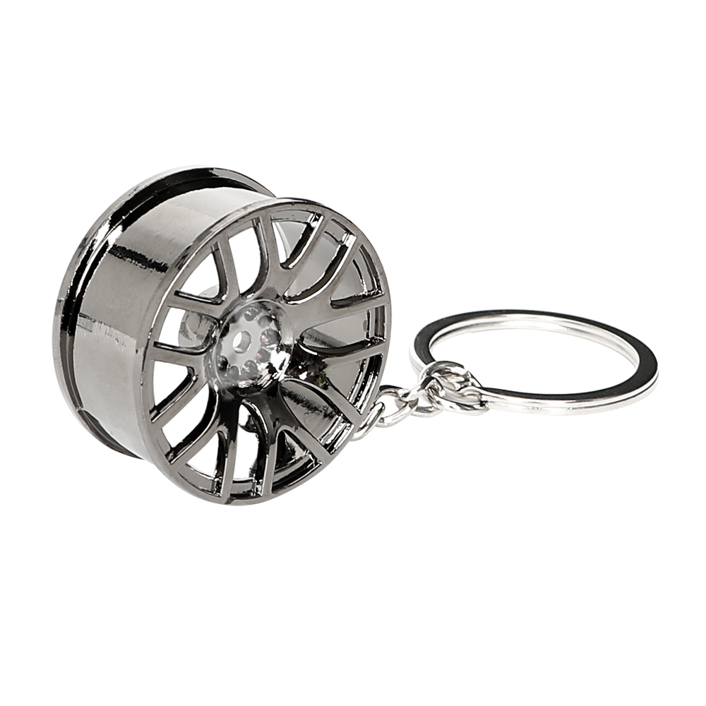 High Quality Car Wheel Rim Model Key Ring Keyring Auto Accessories Metal Birthday Gift Keychain Decors Wheel Hub Key Chain