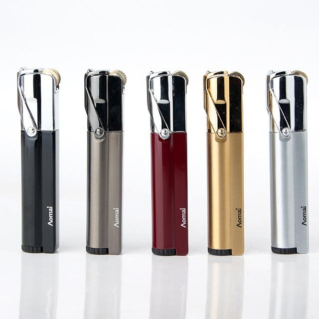 Image 5 - Compact Jet Lighter Gas Torch Lighter Strip Fixed Fire Windproof Metal Cigar Lighter 1300 C Butane Lighter Cigarette Accessories-in Matches from Home & Garden