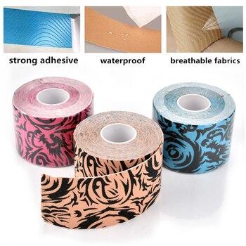Músculo vendaje cinta de kinesiología atlética de Deportes de algodón impermeable robusto rodilla de fútbol protectores de recuperación de lesiones