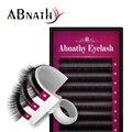 Abnathy EyelashesJ B C D Rizo Visón Individual Extensión de la Pestaña Natural a Largo Falsas Pestañas Falsas Pestañas cilios posticos