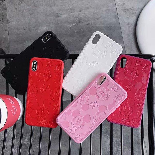 Корпус для мыши с Микки Маусом для iPhone XS MAX XR X 7 8 Plus 6 6s Plus, кожаный чехол с Суперменом, Розовая пантера, крышка для телефона, Fundas Coque