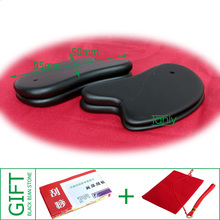 High quality! Wholesale Traditional Acupuncture Massage Tool small Guasha Board Natural Black Bian-stone (92x48mm) 10pieces/lot