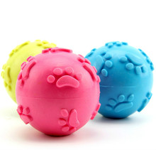 Dog Rubber Ball Pet TPR Toy Cat Dog Training Toys Footprints Ball Wholesale High Quality Pet Supplies
