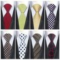 2016 Mens de La Manera Corbatas Lazos para Los Hombres de Negocios Formal Del Banquete de Boda de Seda de Lunares Traje Corbatas Para Hombre