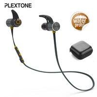 Plextone BX343 Sport Bluetooth Earphone Mini Wireless IPX5 Waterproof Magnetic Headsets 8 Hours Talking Time For