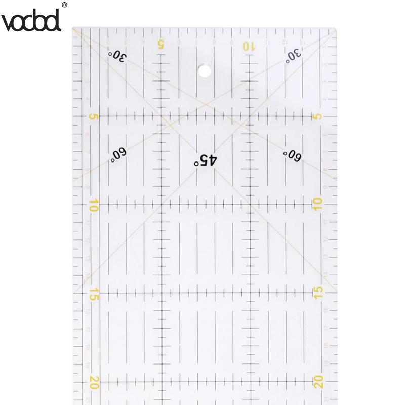 VODOOL 60*15 Cm Patchwork Ruler Sewing Ruler Feet Tailor Rule Yardstick Cloth Cut Student DIY Hand Footage International General