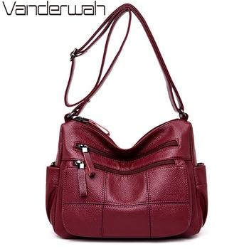 a2540d606c2 VANDERWAH Sac a main Femme classique en cuir souple sacs à bandoulière pour  femmes 2019 sacs à main de luxe femmes sacs designer Bolsa Feminina