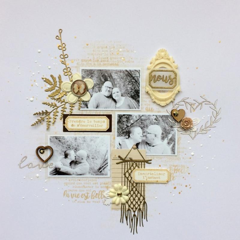 Love Bead Curtain Metal Cutting Die Craft DIY Handmade Decoration Template Scrapbooking Card Album Photo Making Stencil in Cutting Dies from Home Garden