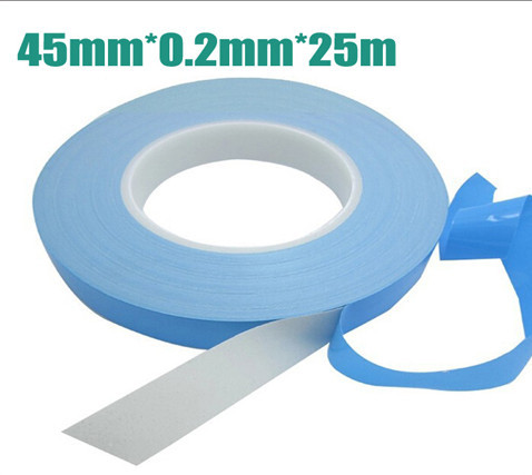 45mm x25m 0.2mm thickness universal Double Sided Thermal Conductive Adhesive tape thermal tape Transfer Tape for PCB Heatsink jtron universal double sided pcb board green 2 x 8cm