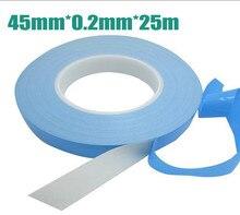 45 мм х 25 м 0.2 мм толщина универсальный Двусторонняя Теплопроводностью Клейкая лента тепловой ленты Передачи Ленты для PCB Радиатора