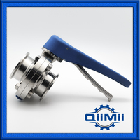 1 5 SS 316L TC Clamp Butterfly Valve Sanitary Food Grade Butterfly Valve Clamp End