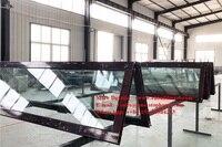 Glass panel,Waterproof veranda double glazing aluminum bi folding door,folding aluminum door partition,double/triple door