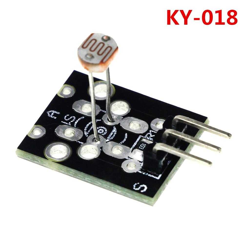 3pin КИЗ KY-018 Оптических Чувствительных Сопротивления Обнаружения Света Фоточувствительный Модуль Датчика для arduino DIY Kit KY018