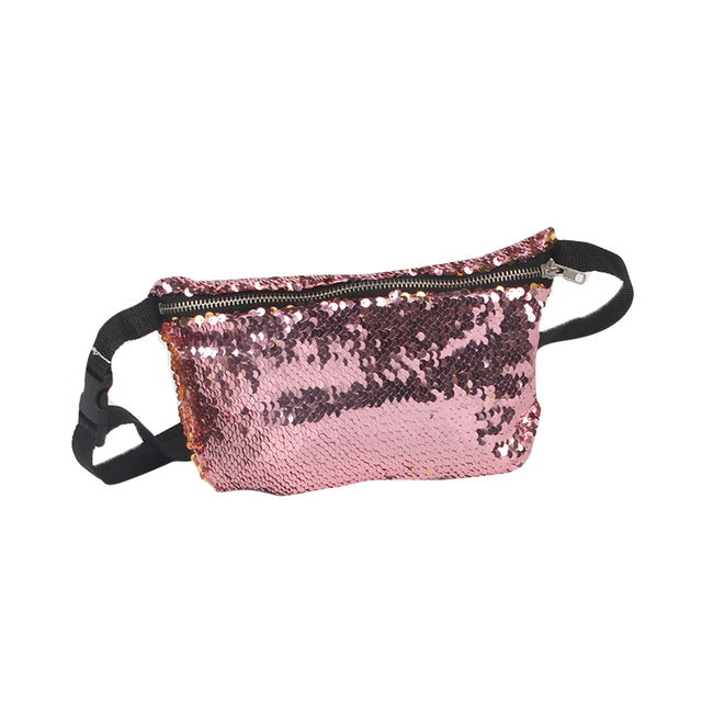Litthing 2018 New Stylish Women Fashion Reversible Sequin Glitter Waist  Fanny Pack Belt Bum Bag Pouch 42a697756d4b