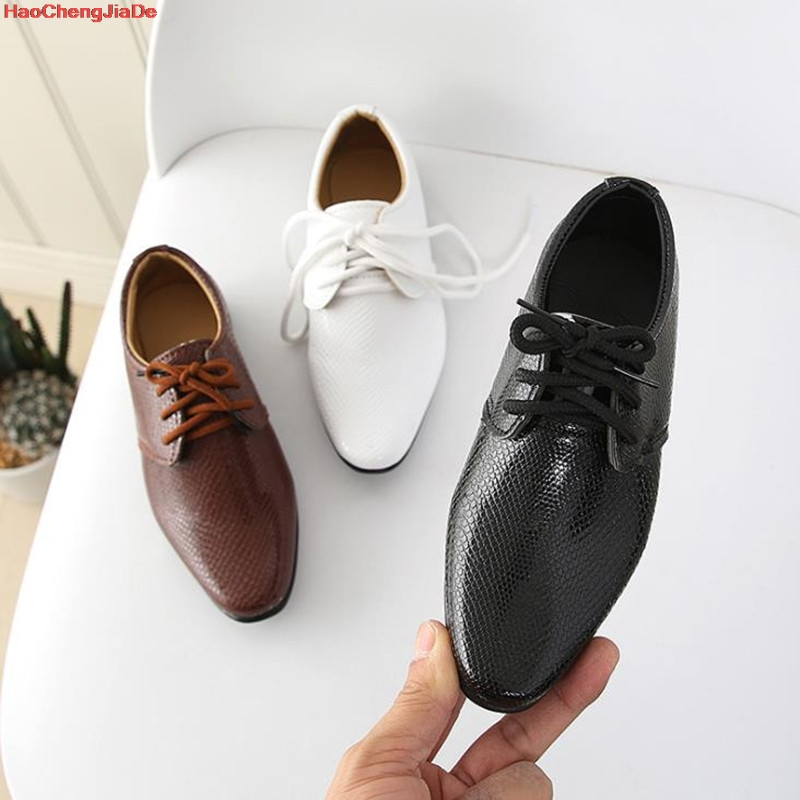 Boys Leather Shoes Children Leather Wedding Oxford Shoes Designer Black School Casual Dress Shoes For Kids