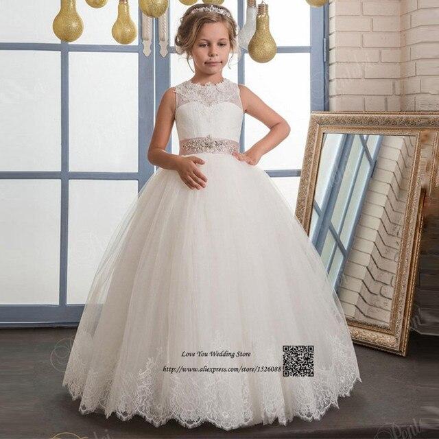 Robe Petite Fille d\'honneur Weißes Festzug Kleider für Kleine ...