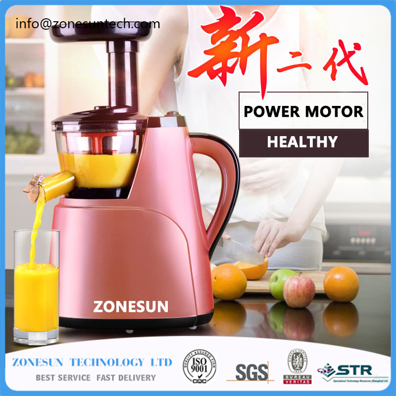 ZONESUN 2nd Generation 100% Original juicer Slow Juicer Fruit Vegetable Citrus Low Speed Juice Extractor automatic slow juicer fruit vegetable citrus low speed multifunction juicer bean milk baby food machine