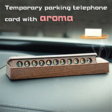Car Temporary Parking Card Phone Number Plate Telephone Park Stop