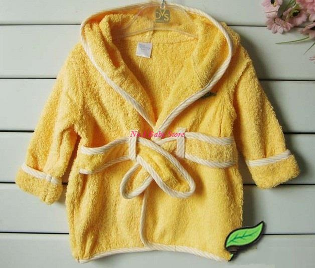 De Calidad superior 100% algodón Batas De Baño para 0-12 M del bebé, productos del bebé del envío, Niños Albornoces, niños homewears