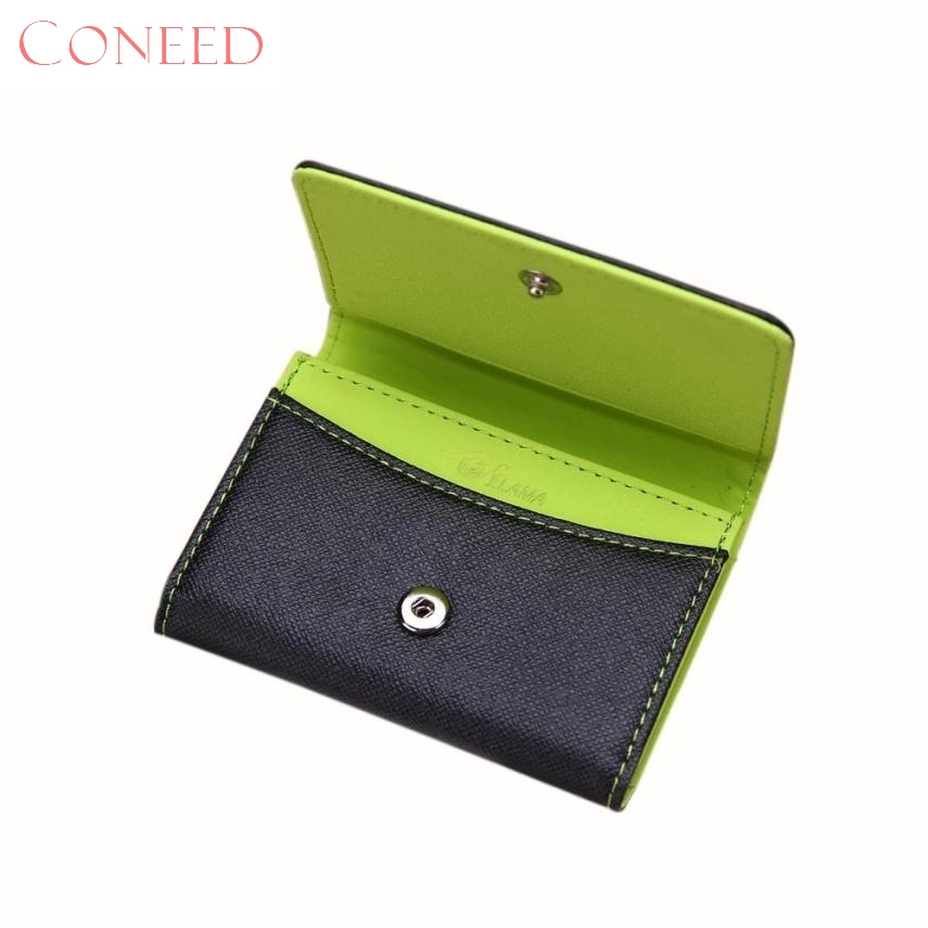 CONEED Charming Nice Men Leather Card Cash Receipt Holder Organizer Bifold Wallet Purse Best Gift Wholesale Sep20