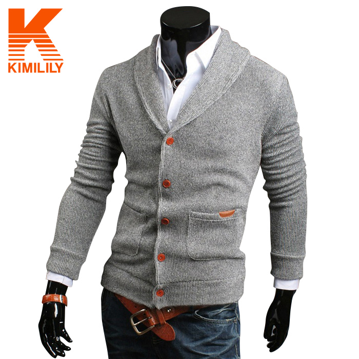 Brand Autumn Men long sleeve sweater Colourful V collar Men's ...
