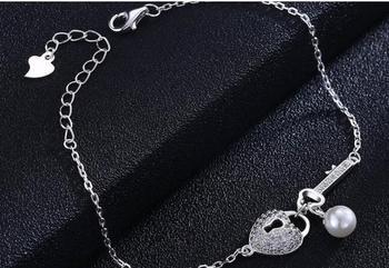 YTF68 Neue S925 Silber Armband frauen Zirkon-intarsien Herz-förmigen Perle Schmuck Armband