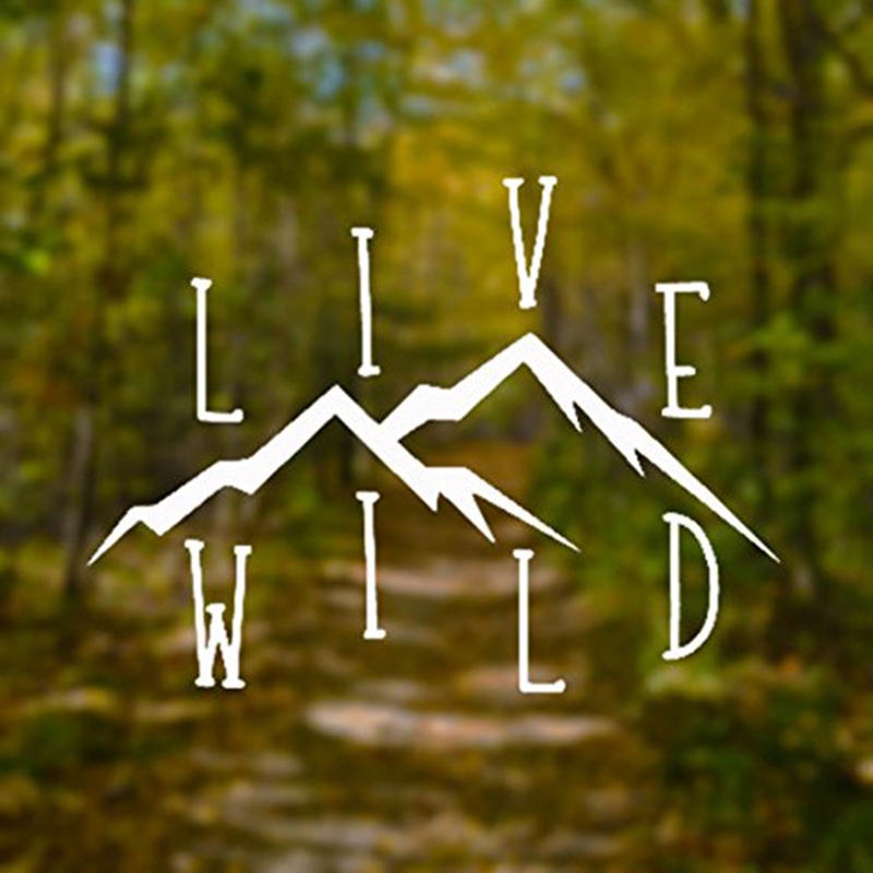 Live Wild Wanderlust Decal Vinyl Sticker|Cars Trucks Vans Fashion Personality Creativity Rear Window Car Sticker